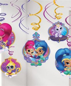 Shimmer & Shine Party Swirl Decorations