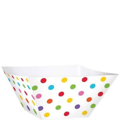 Square Rainbow Paper Bowls