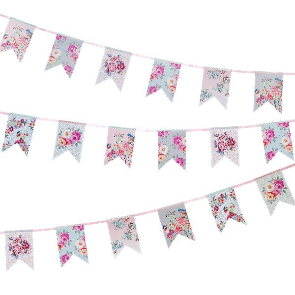 Truly Romantic Party Paper Bunting