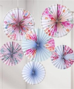 Truly Romantic Party Pinwheel Fan Decorations