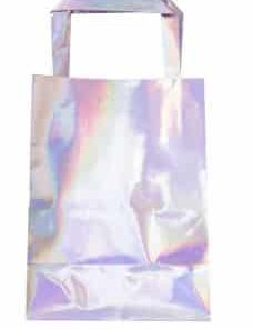 Iridescent Party Bags With Handle