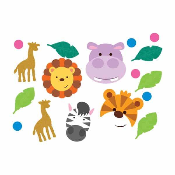 Jungle Animal Friends Party Confetti