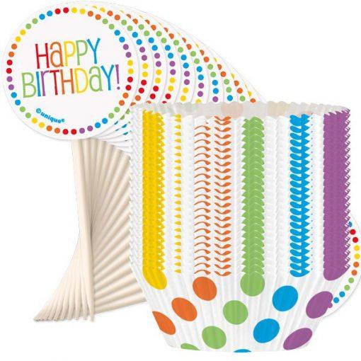 Rainbow Party Cupcake Kit