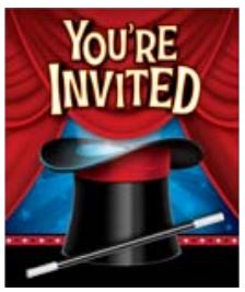 Magic Party Invitations