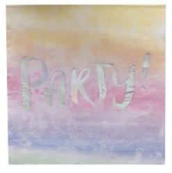 Iridescent PARTY Paper Napkins