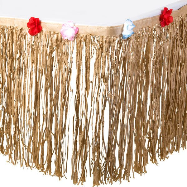 Natural Tissue Table Skirt