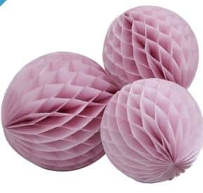 Princess Perfection Party Pink Honeycomb Ball Decorations