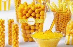 Yellow & Orange Candy Buffet