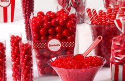 Red & White Candy Buffet