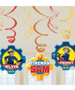 Fireman Sam Party Swirl Decorations