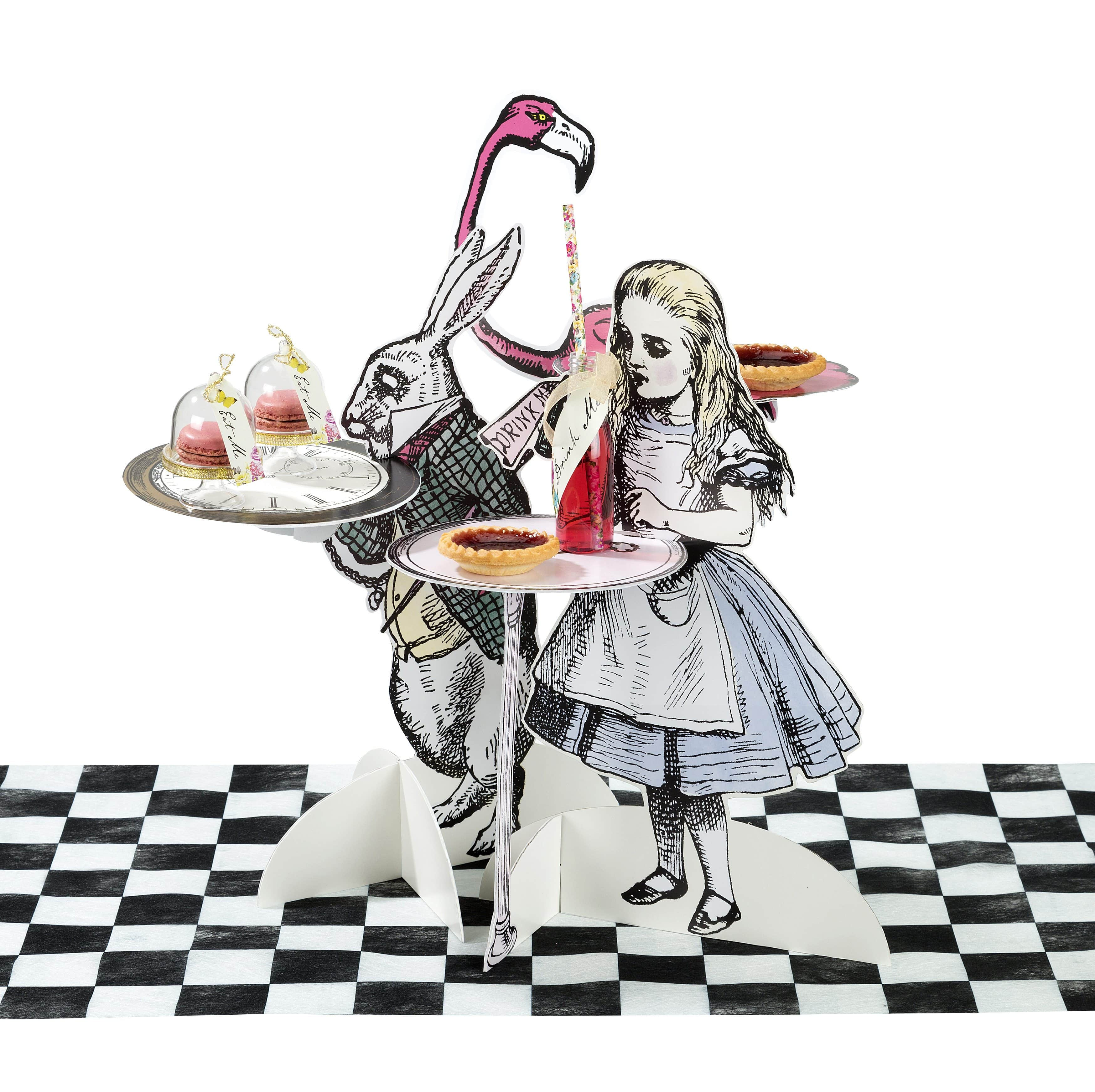 Christmas Wonderland Scene Setter Add On Carolers Fun: Alice In Wonderland Party Themed Truly Alice Cake Stands