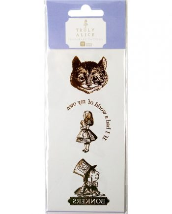 Alice in Wonderland Party Themed Truly Alice Gold Foil Temporary Tattoos
