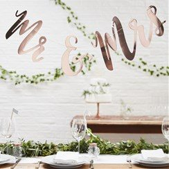 Wedding Beautiful Botanics 'Mr & Mrs' Rose Gold Bunting