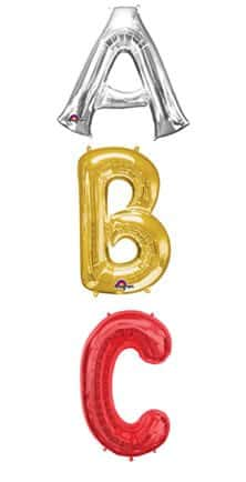 big balloon letters big letter number 34 quot balloons supplies 20604 | Big Letter Balloons