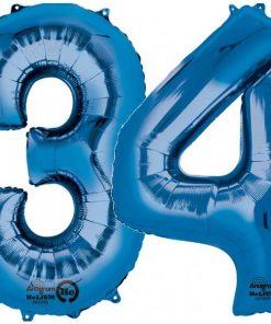 Blue Number Foil Balloons