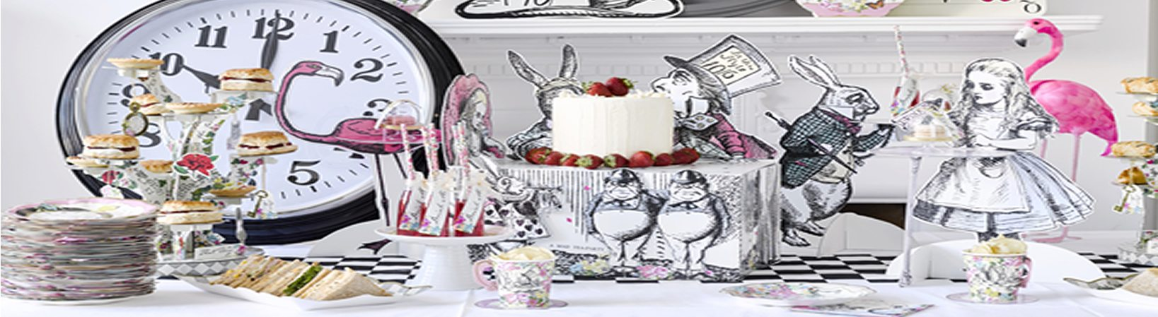 Buy Alice in Wonderland themed party decorations, novelties & plates in stock in the uk next day delivery