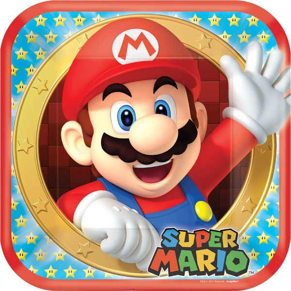 Buy Cheap Super Mario Themed Party Plates, Decorations & Balloons in stock