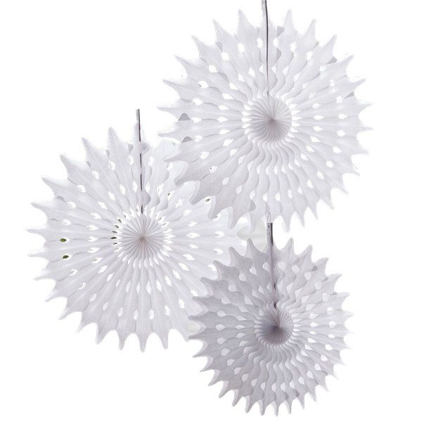 Wedding Beautiful Botanics White Tissue Fan Decorations