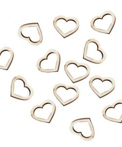 Wedding Beautiful Botanics Wooden Heart Shape Confetti