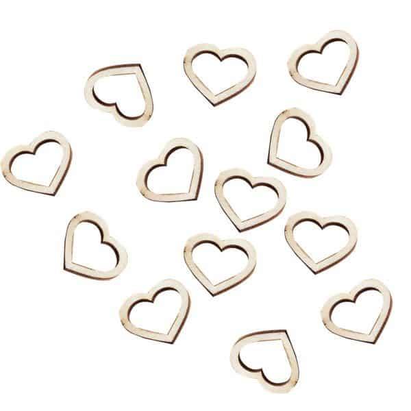 Wedding Beautiful Botanics Wooden Heart Shape Confetti