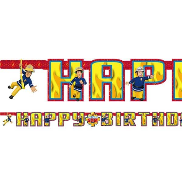 Fireman Sam Party Happy Birthday Letter Banner Fun Party Supplies