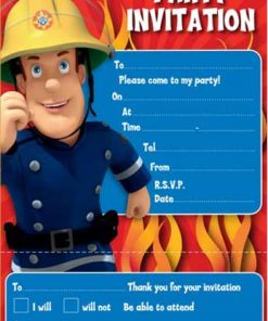 Fireman Sam Party Invite Pad