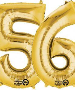 Gold Number Foil Balloons