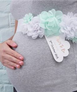 Hello World Rose Gold Party Mother To Be Fabric Sash