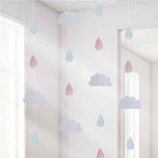 Hello World Rose Gold Party Raindrop Hanging Decoration
