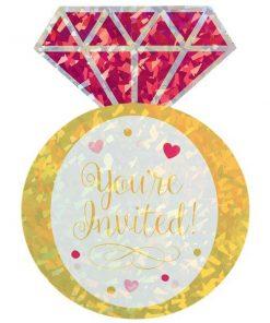 Jumbo Diamond Ring Party Invitation Cards