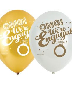 OMG Engagement Latex Balloons