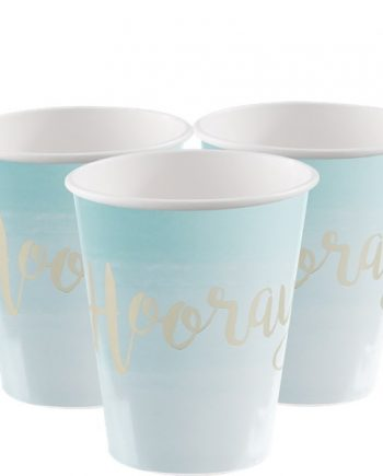Pick & Mix Mint Party Hooray Gold Foiled Paper Cups