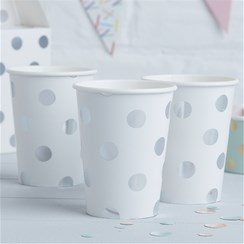 Pick & Mix Silver Party Polka Dot Paper Cups