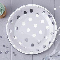Pick & Mix Silver Party Polka Dot Paper Plates