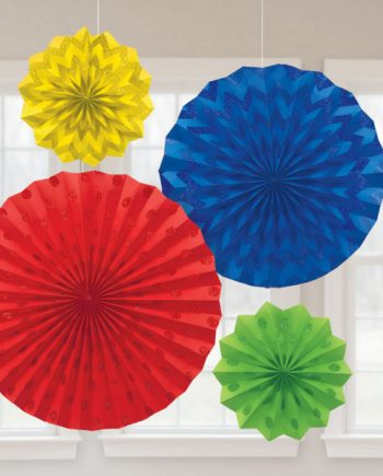 Multi-Coloured Party Decorations