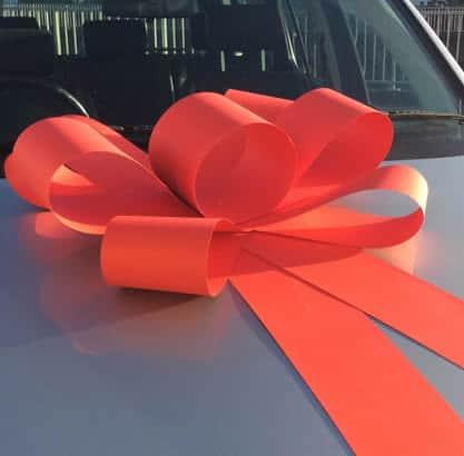 Red Bonnet Car Bow
