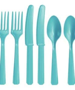 Robin's Egg Blue Party Plastic Cutlery