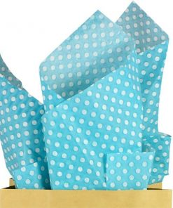 Robins Egg Blue Polka Dot Tissue Paper