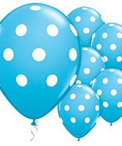 Robins Egg Blue Polka Dots Balloons
