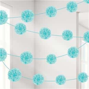 Robins Egg Blue Pom Pom Garland