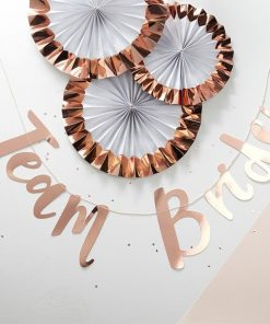 Team Bride Rose Gold Paper Bunting