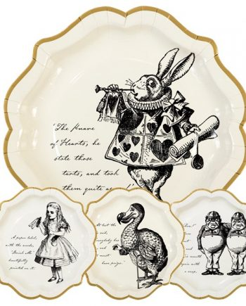 Alice in Wonderland Party Themed Truly Alice Paper Plates