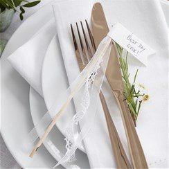Wedding Beautiful Botanics Ribbon Glass Decorations