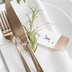 Wedding Beautiful Botanics Rose Gold Foiled Tags