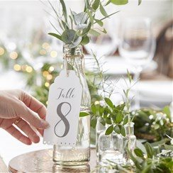 Wedding Beautiful Botanics Table Number Tags