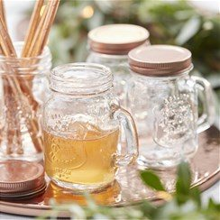 Beautiful Botanic Mini Glass Jars