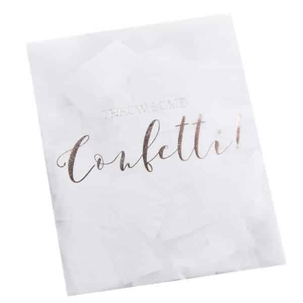 Wedding Beautiful Botanics Rose Gold Foiled Confetti Envelope