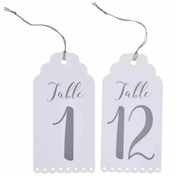 Wedding Beautiful Botanics Table Number Tags