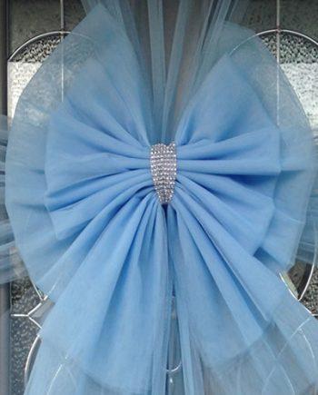 Baby Blue Deluxe Door Bow