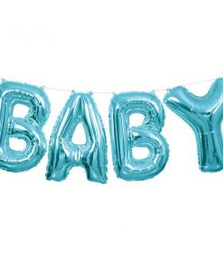 Baby Blue Phrase Balloon Bunting
